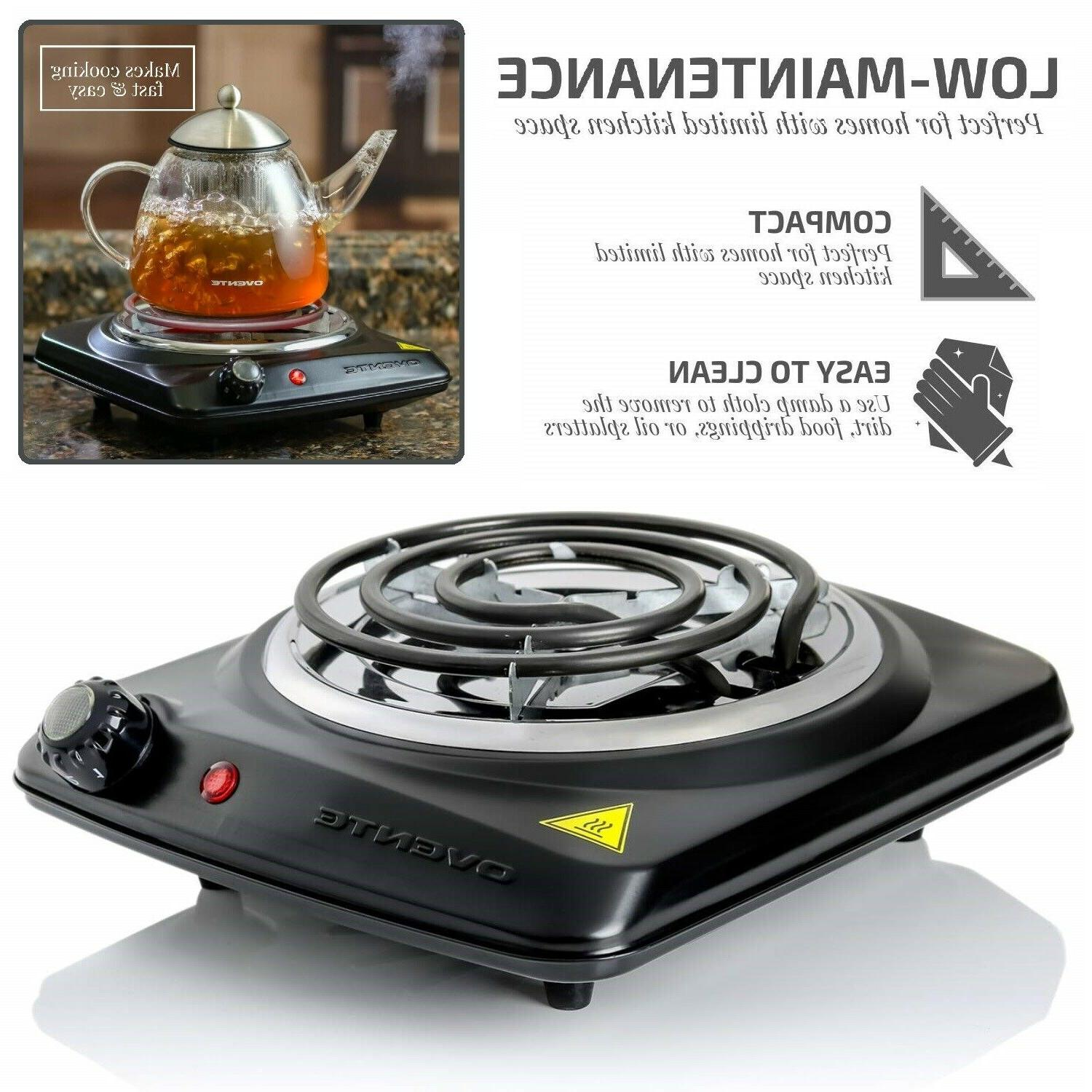 ELECTRIC SINGLE BURNER Portable Hot Plate Stove Countertop T
