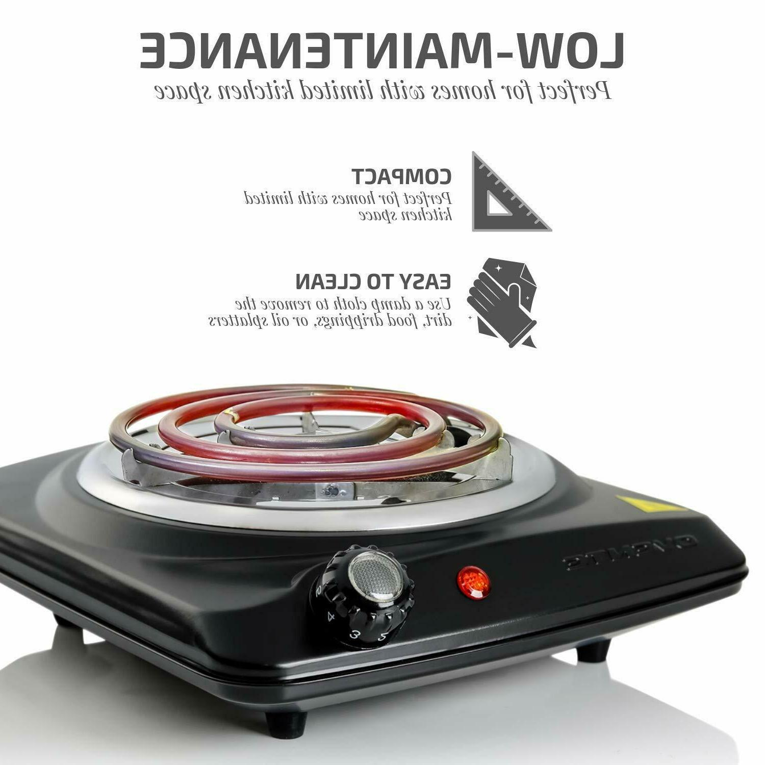 ELECTRIC BURNER Portable Hot Plate Stove Travel
