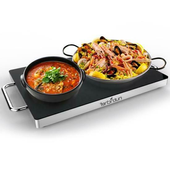 electric warming tray food warmer with non