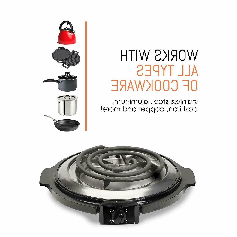 Elite Cuisine Single Countertop Portable Burner,750W,Black