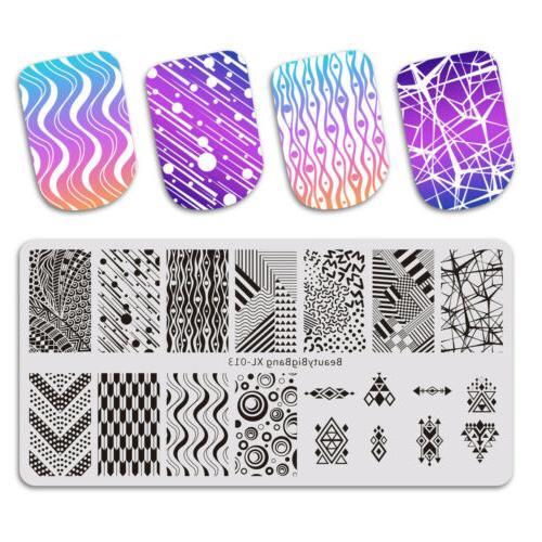 hot nail stamping plates nail art image