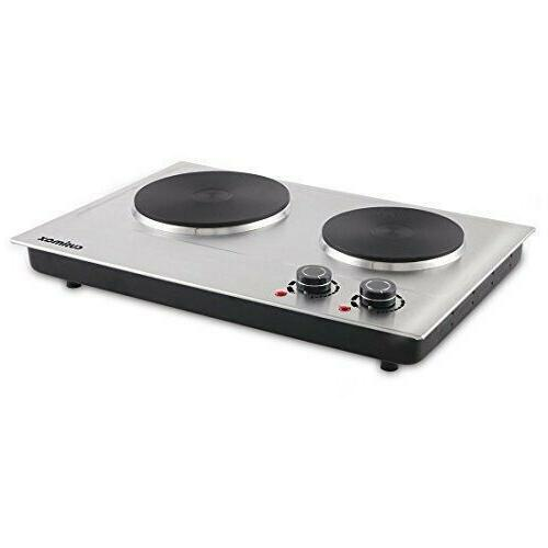 hot plate 1800w electric double burner cast