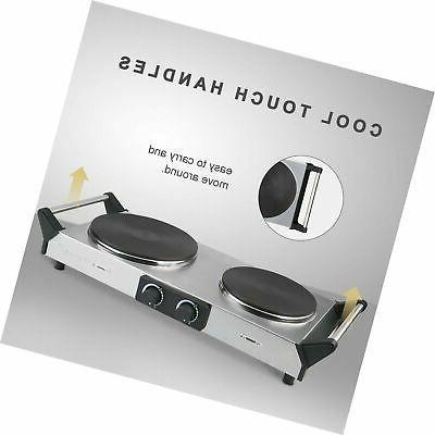 Duxtop Hot Cast-Iron Burner with Adjustable