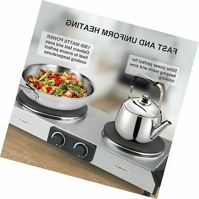 Duxtop Cast-Iron Electric Burner with Adjustable