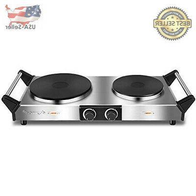 hot plate portable electric cooktop cast tron