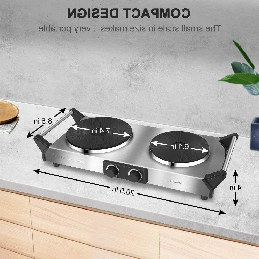 Hot Plate, Portable Cooktop Cast Stainless Electri