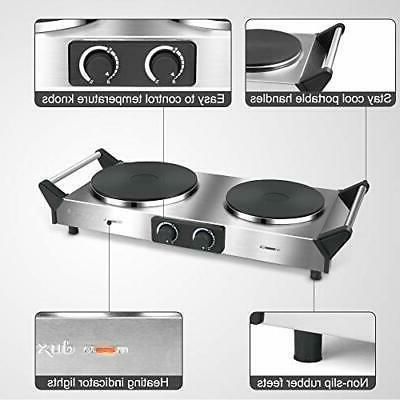 Duxtop Hot Electric Cooktop Cast Stovetop, Steel