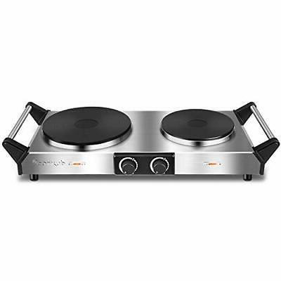 Duxtop Hot Electric Cooktop Cast Stovetop,