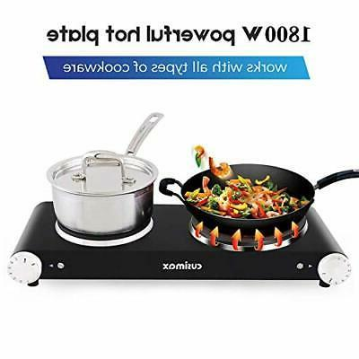 Cusimax Hot Electric Stove Double Single Black