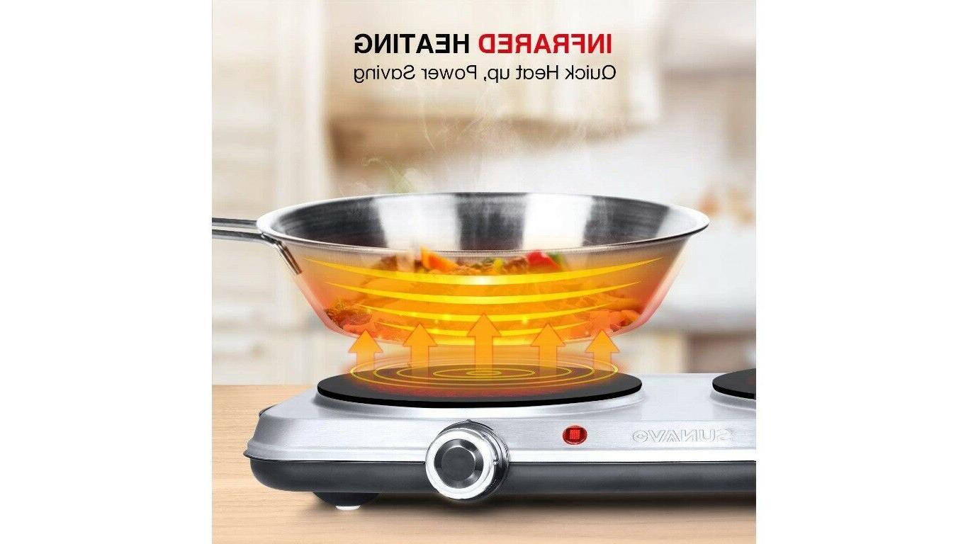 Hot Plates Electric stove 1800W,6 Power Levels