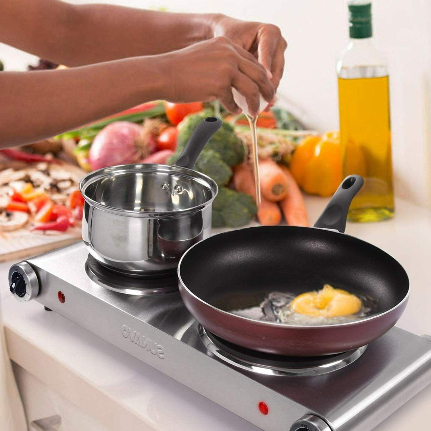 Hot Plates Cooking Portable Electric Burner 1800W Level