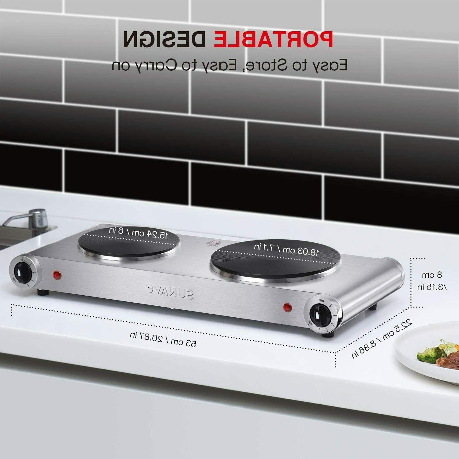 Hot Plates for Portable Electric Burner 1800W 5 Power