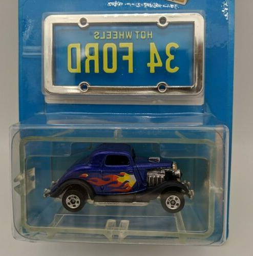 Mattel Hot Wheels Plates 34 Ford Blue NEW