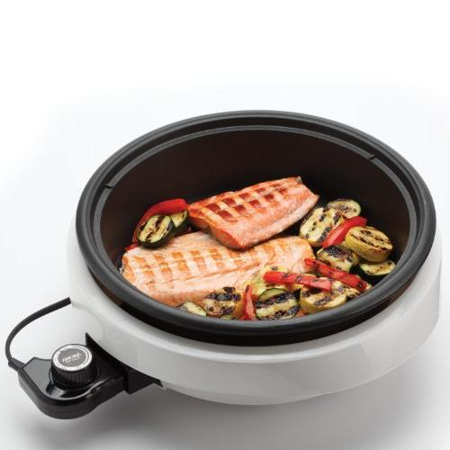 Aroma Housewares 3-in-1 Grill White/Black