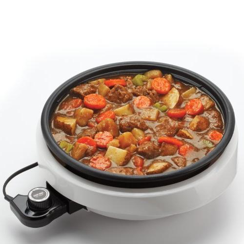 Aroma 3-Quart Pot Grill White/Black