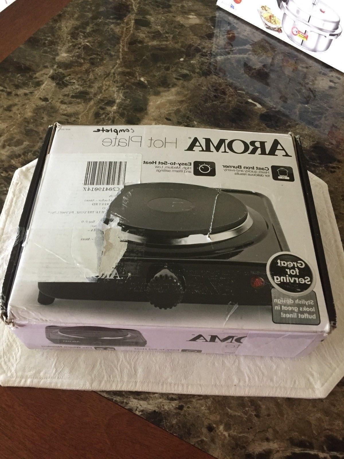Aroma Housewares Hotplate Black Ahp 303 Chp 303