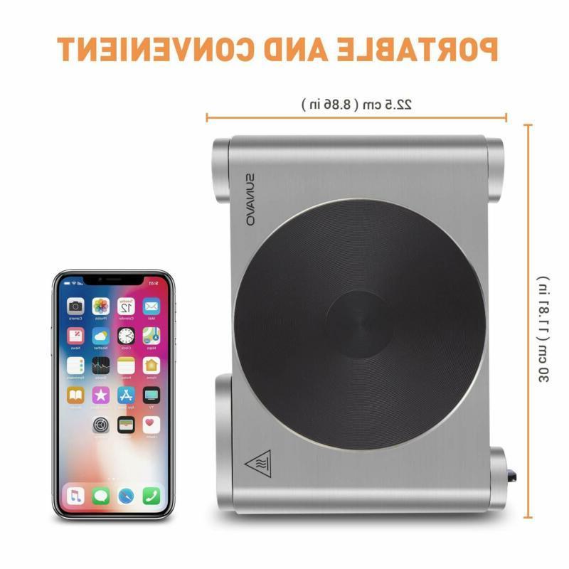 Sunavo Hot Plates Cooking 1500W Portable Burner