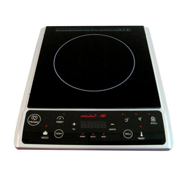 Induction Hot Plate 7.25 in Single Burner Ceramic