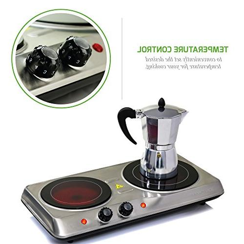 Ovente Burner, Ceramic Plate Cooktop, and Outdoor Portable Stove, Watts