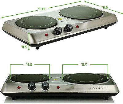 Infrared Cooktop Double Burner Electric 2