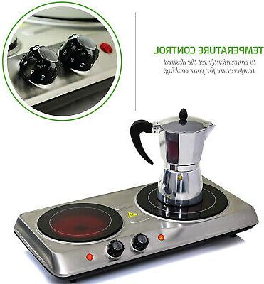 infrared cooktop double burner electric hot plate