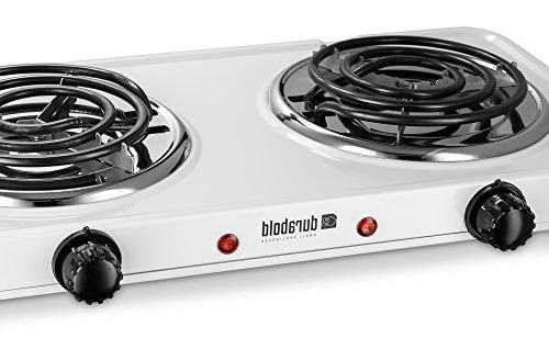 Kitchen Countertop Cast-Iron Burner - Stainless Body for RV, Small Apartments, Camping, Cookery by Durabold