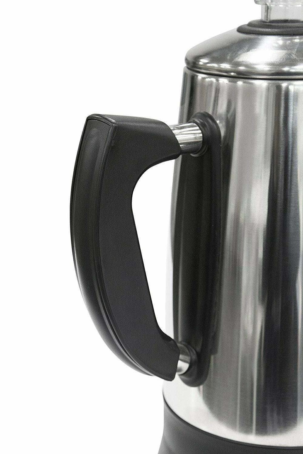 Maxi Matic 12-Cup Stainless Steel/Black Vintage