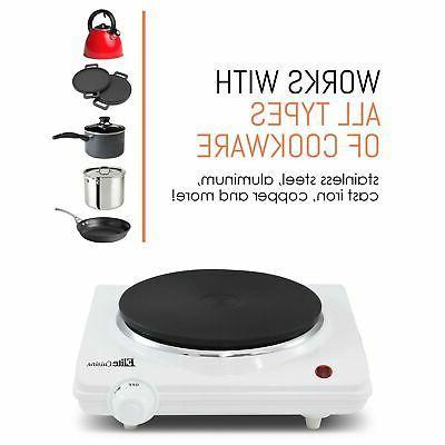 Maxi-Matic ESB-301F Cuisine Single 1000-Watt Hot White