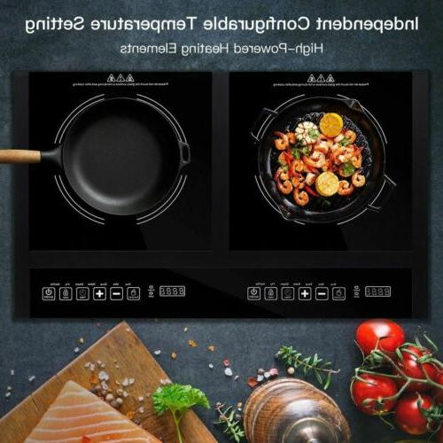 MElectrical Double Burner Induction Cooktop Display