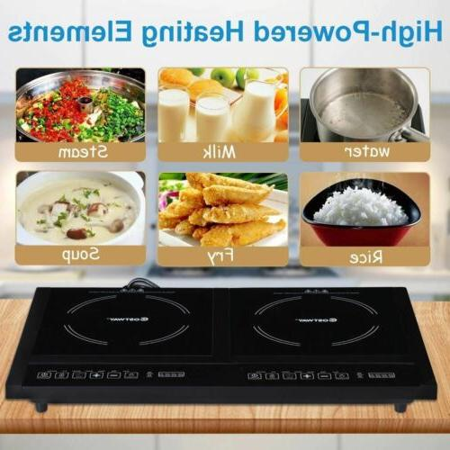 MElectrical Adjustable Burner Induction Cooktop w/LED Display