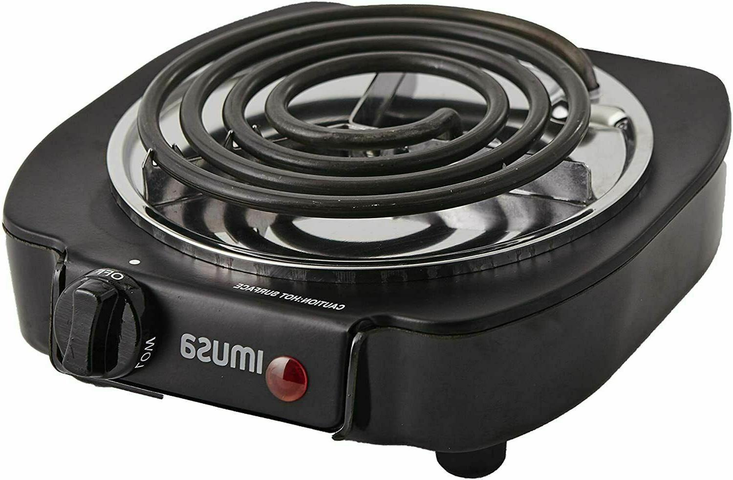 NEW Portable Single Burner Hot Plate Counter Stove Cooking
