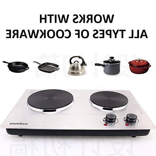 Cusimax 1800W Plate Electric Stove Stainless - CMHP-C180N