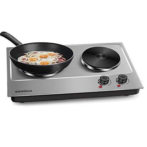 Cusimax 1800W Double Plate for Cooking Electric Stove - Portable