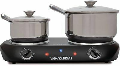 Commercial Hot Plate Farberware Double Burner Portable Count