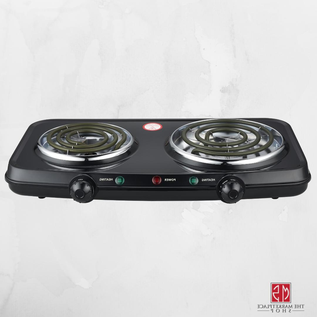 Portable Cooking Stove Mainstays Double Burner 1800W Hot Pla