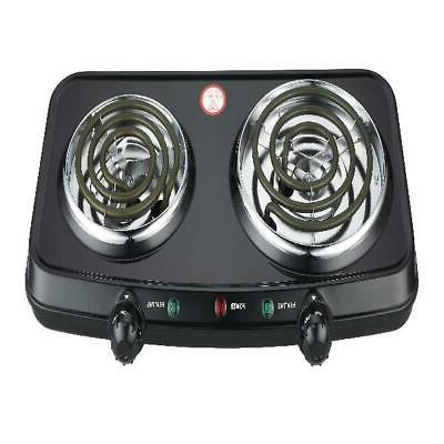Portable Cooking Double Burner Hot Plate Electric