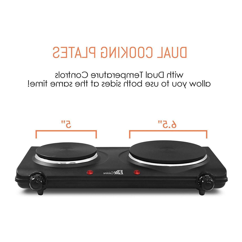 Portable Electric Stove Dual Burner Top