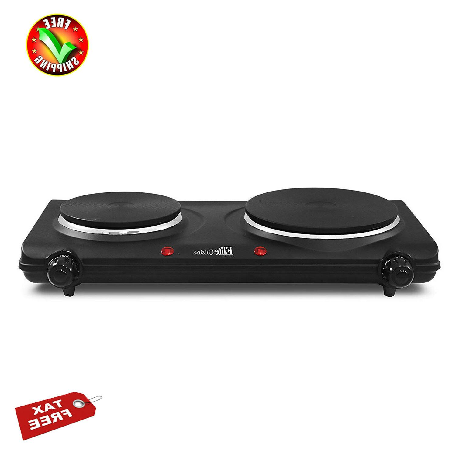portable electric cooktop double stove hot plate