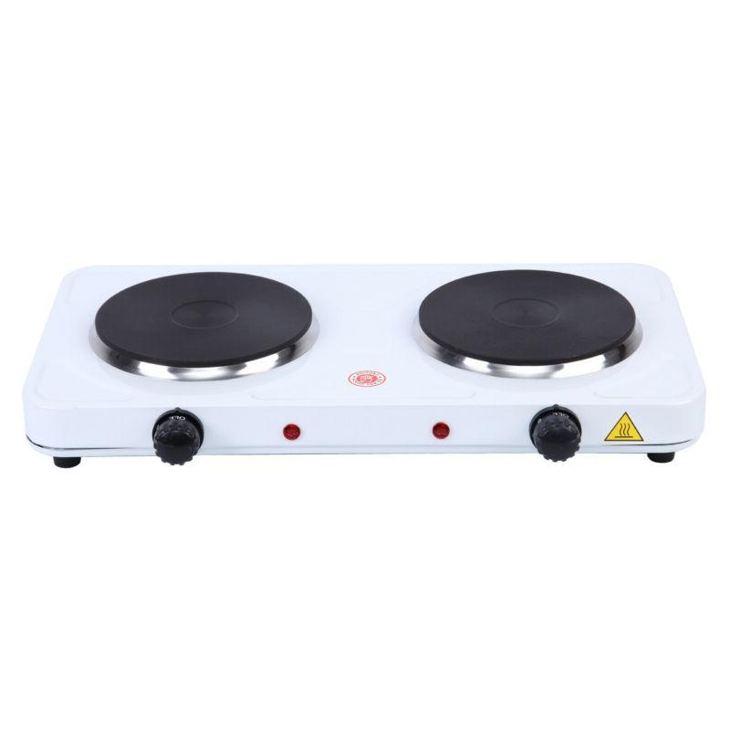 Electric Double Burner Hot Plate Heating Kitchen