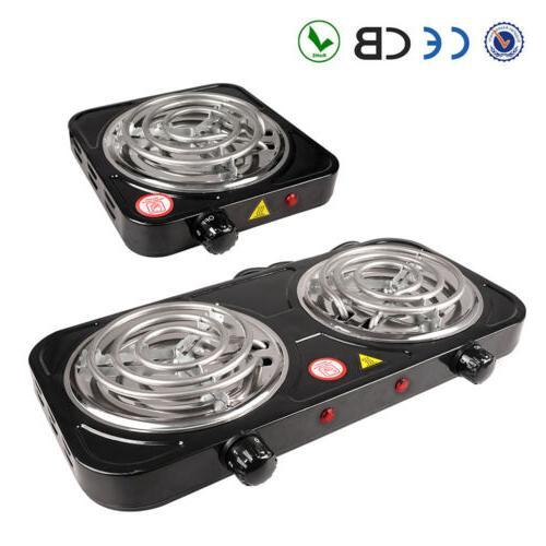 portable electric double single burner hot plate