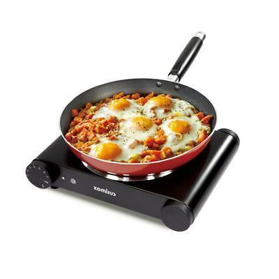 portable electric single burner hot plate heating