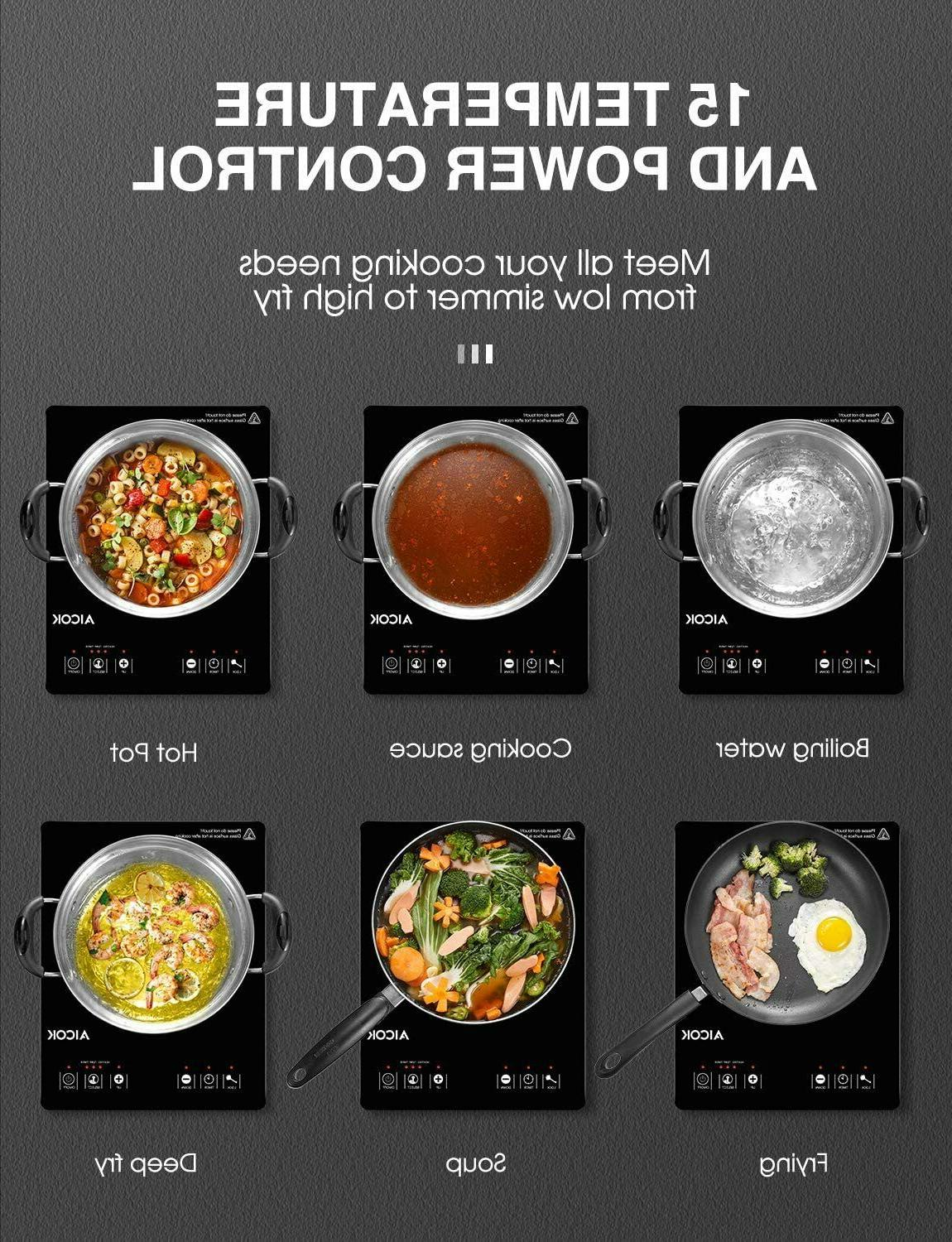 PORTABLE COOKTOP Temperature Timer LCD