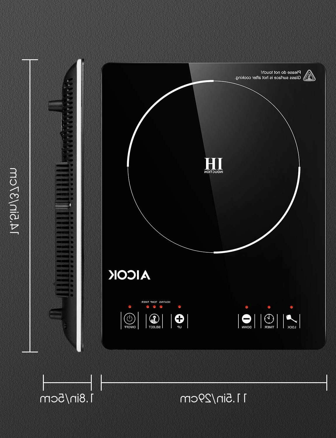PORTABLE INDUCTION COOKTOP 15 Temperature Power Setting LCD