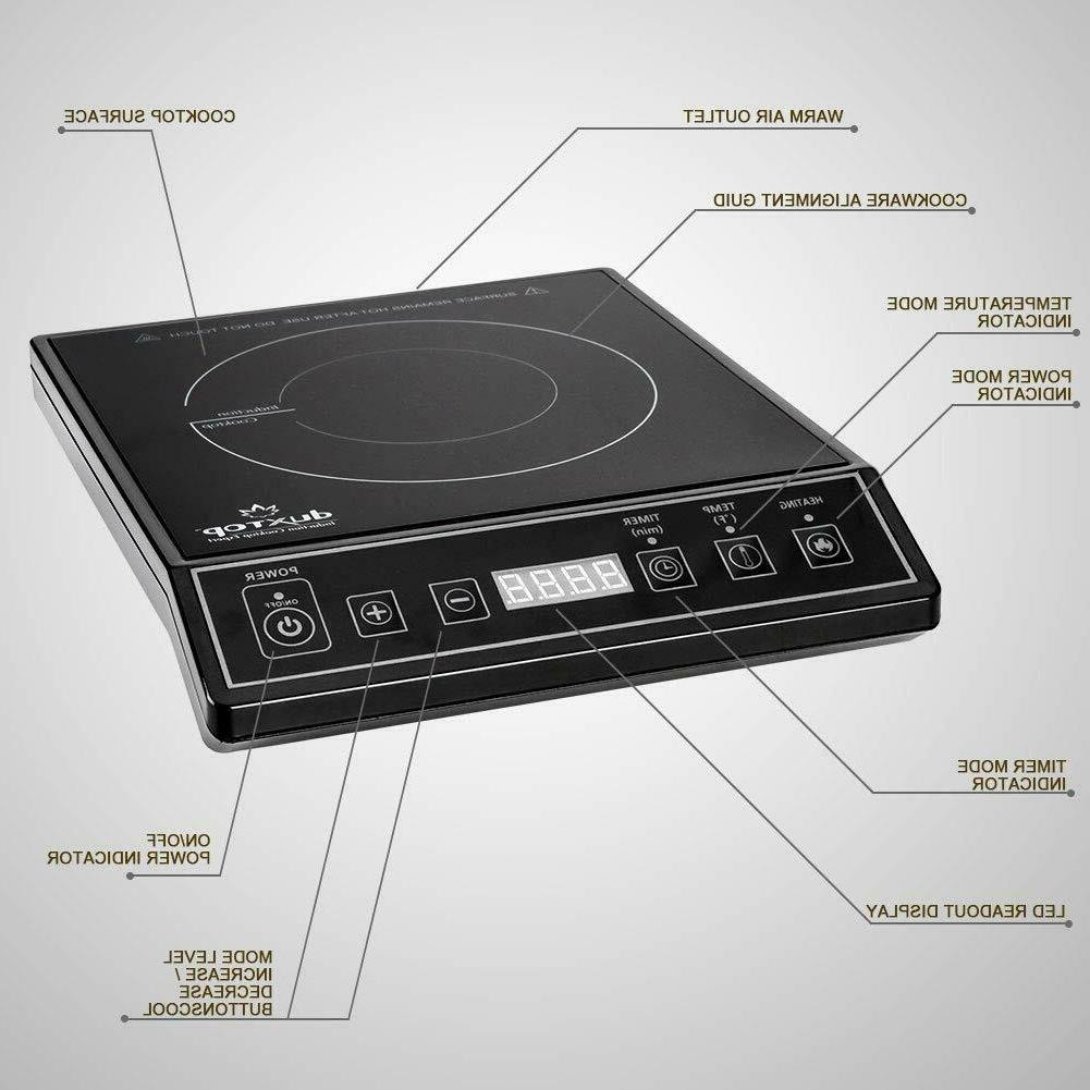 Portable Induction Countertop Burner Black Free 2