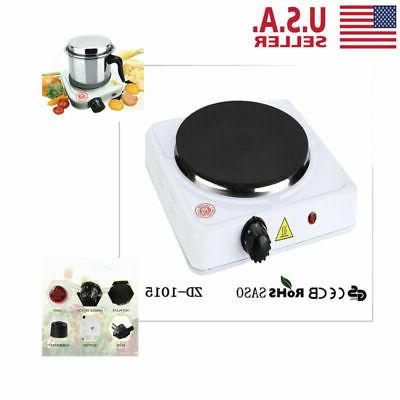 Portable Electric Burner Hot Plate Stove RV Travel Cook Countertop