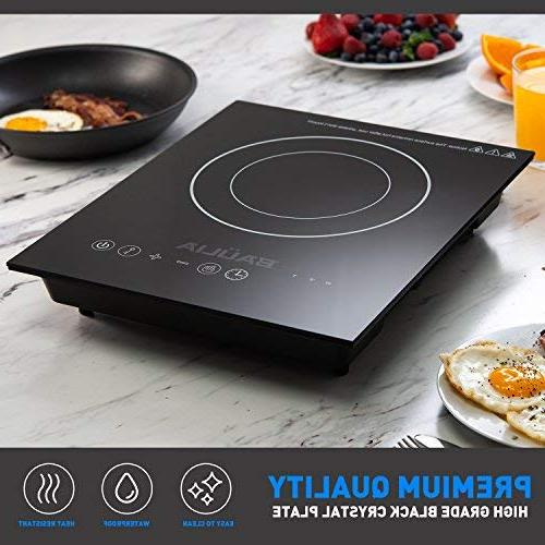Baulia Induction Cooker Single Touch Countertop Burner for Fast Cooking, Control 4 Timer, 1800