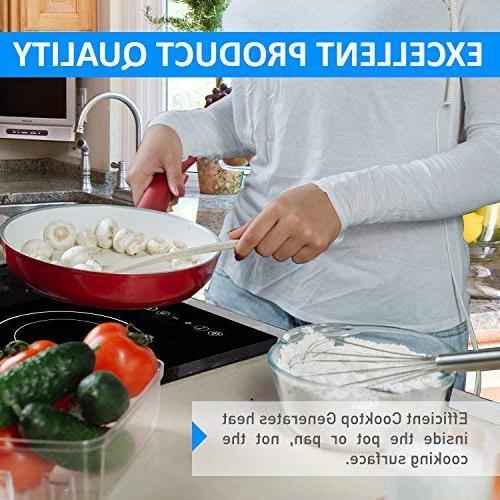 Baulia SB816 Induction Cooker Single Touch Countertop Burner Cooking, Precise Digital Temperature Control + Hour Timer, Watt,