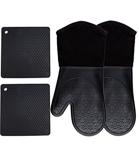 silicone oven mitts potholders