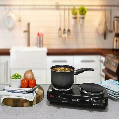 Small Electric Stove 2 Range Hot US