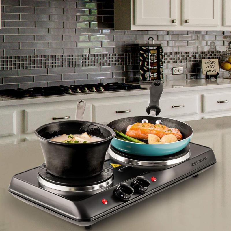 Small Electric 2 Burners Range Double Hot Countertop